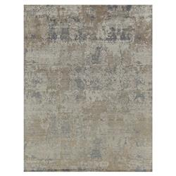 Exquisite Rugs Hundley Modern Classic Diamond Pattern Distressed Beige Grey Rug - 8' x 10'