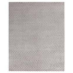 Exquisite Rugs Kingsley Modern Classic Textured Chevron Stone Bamboo Silk Rug - 6' x 9'