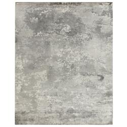 Exquisite Rugs Koda Modern Classic Abstract Monochrome Greige Bamboo Silk Rug - 8' x 10'