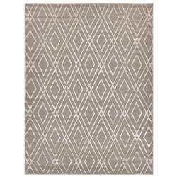 Exquisite Rugs Metro Velvet Modern Classic Diamond Pattern Beige Wool Rug - 6' x 9'