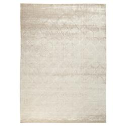 Exquisite Rugs Carved Modern Classic Scallop Pattern Bright Champagne Rug - 6' x 9'
