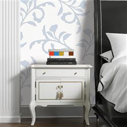 Colette Modern Classic Light Blue White Removable Wallpaper