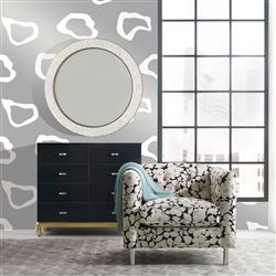 Molly Modern Classic Silver Removable Wallpaper