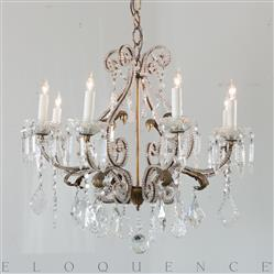 Eloquence French Country Style Antique Chandelier: 1910