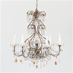 Eloquence French Country Style Antique Chandelier: 1900