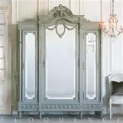 Eloquence French Country Style Antique Armoire: 1880