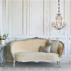 Eloquence French Country Style Antique Daybed: 1880