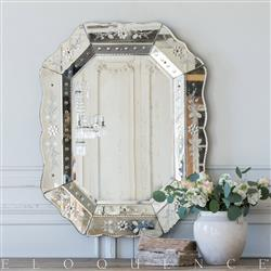 Eloquence French Country Style Vintage Venetian Mirror: 1920