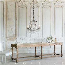 Eloquence French Country Style Antique Drapery Table:1880