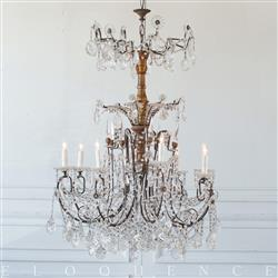 Eloquence French Country Style Antique Chandelier: 1880