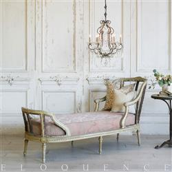 Eloquence French Country Style Antique Chaise: 1900
