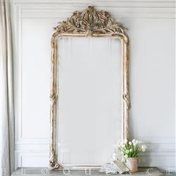 Eloquence French Country Style Antique Mirror: 1880