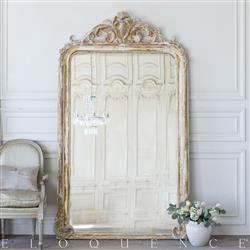 Eloquence French Country Style Antique Floor Mirror: 1890