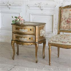 Eloquence French Country Style Vintage Nightstand:1930