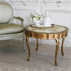 Eloquence French Country Style Vintage Coffee Table: 1930