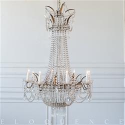 Eloquence French Country Style Antique Chandelier: 1870