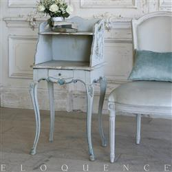 Eloquence French Country Style Antique Nightstand:1900