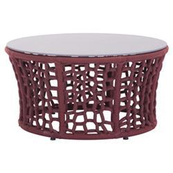 Fraya Modern Classic Stone Flecked Glass Top Outdoor Coffee Table