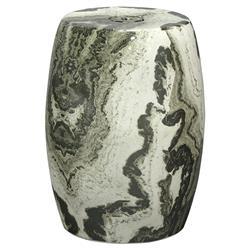 Palecek Mori Modern Classic Ceramic Faux Marble Garden Stool