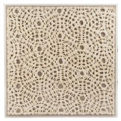 Gabi Modern Classic Abstract Geometric Acrylic Framed Paper Wall Art - Small Circles