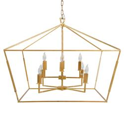 Ira Modern Classic Wrought Vintage Gold Chandelier