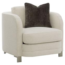 Goode Modern Classic Beige Basketweave Down Pillow Club Accent Armchair