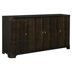 Goode Modern Classic Dark Wood 4 Door Retro Credenza