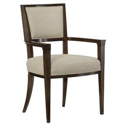 Goode Modern Classic Beige Tweed Upholstered Dining Arm Chair - Set of 2