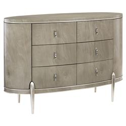 Miranda Modern Classic Finished Back 6 Drawer Oval Dresser