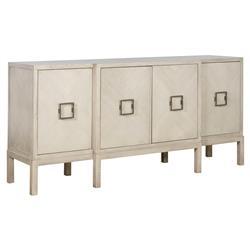 Michael Weiss Hillsboro Modern Classic Ash Solid 4 Door Adjustable Shelf Sideboard