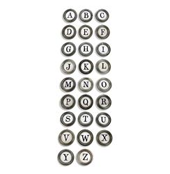 Vintage Typewriter Keys A to Z Metal Letter Wall Decor