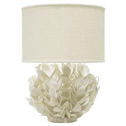 Palecek Magnolia Coastal Beach Coconut Shell White Table Lamp