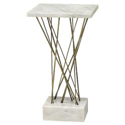 Palecek Odelia Modern Classic Solid Alabaster Stone Square Side End Table