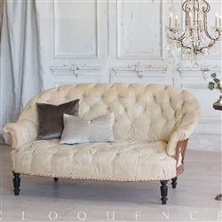 Eloquence French Country Style Antique Sofa: 1880