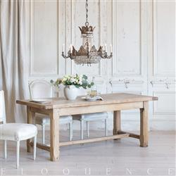 Eloquence French Country Style Antique Dining Table: 1900