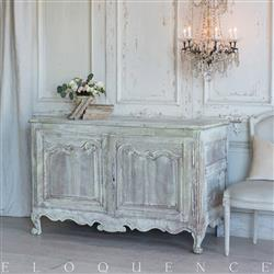 Eloquence French Country Style Antique Sideboard: 1890