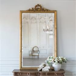Eloquence French Country Style Antique Mirror: 1850