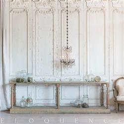 Eloquence French Country Style Antique Drapery Table: 1900