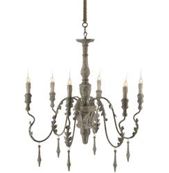Charlemagne French Country Wash 6 Light Chandelier