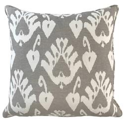 Giza Global Bazaar Taupe Patterned Square Pillow - 20x20