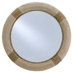 Azure Coastal Beach Rope Wrapped Round Porthole Mirror - 36D