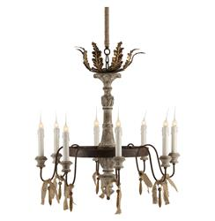 Lafayette French Country Rustic 8 Light Chandelier | AG-L115 CHAN
