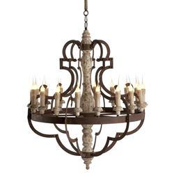 Nurnberg Large Rustic Iron 18 Light Chandelier