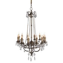 Roma Elegant Crystal Bead French Manor 12 Light Chandelier | AG-L116 CHAN