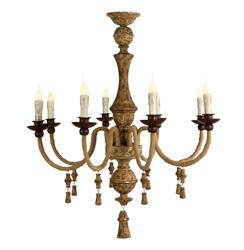 Turon Country Rustic Italian 8 Light Aged Gold Chandelier | AG-L96 CHAN