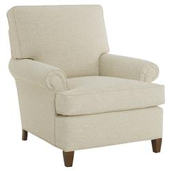 CR Laine Patterson Modern Classic Sandy Beige Upholstered Wood Club Chair