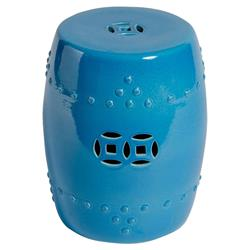 Calvin Global Bazaar Turquoise Blue Outdoor Garden Stool