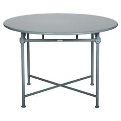 Tectona French Country Grey Blue Aluminum Round Outdoor Dining Table