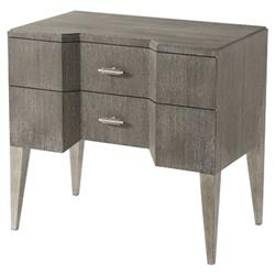 Theodore Alexander Mavericks Bay Cerused Oak Brass 2 Drawer Nightstand