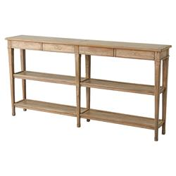 Theodore Alexander Village French Light Antiqued Wood 3 Tier Console Table